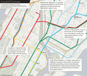 2nd Ave subway alternatives in Harlem and the South Bronx.