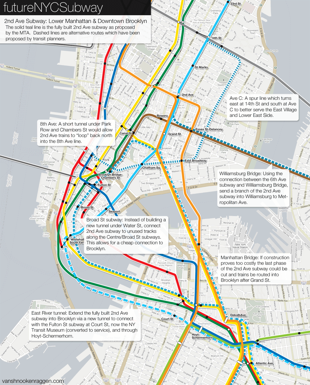 New York Subway Map Future.The Futurenycsubway 2nd Ave Subway Future Vanshnookenraggen