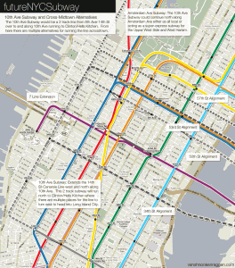 10th Ave Subway and Crosstown alternatives.