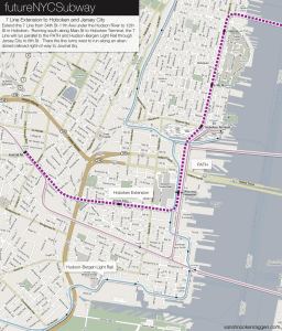 7 Line extension into Hoboken and Jersey City.