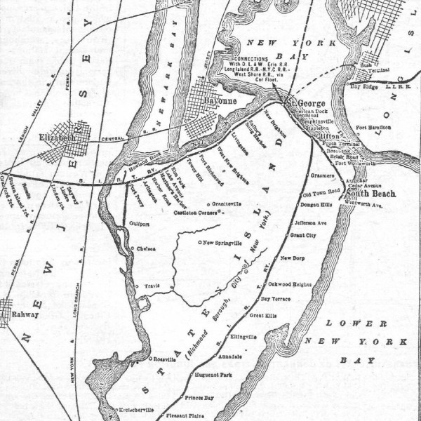 Staten Island RR map, 1952 via Wikipedia