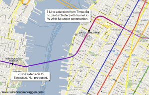 7 Line extension from Times Sq to Jacob Javits Center.