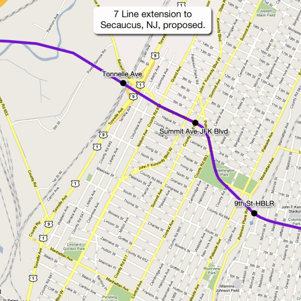 7 Line extension to Secaucus