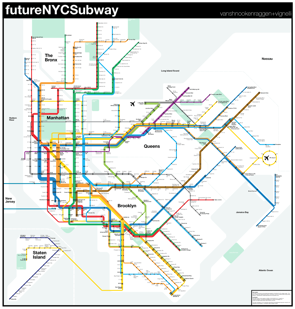 FutureNYCSubway V  Vanshnookenraggen - Nyc subway map queens ny