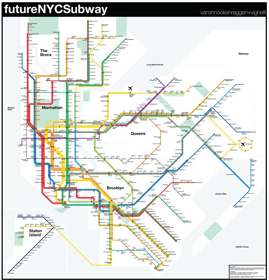 New Second Ave Subway Map.Futurenycsubway V3 Vanshnookenraggen