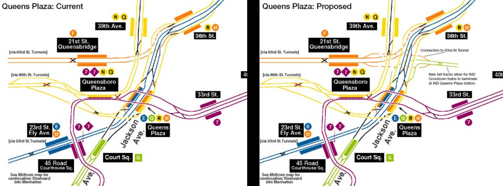 Queens Plaza Track Map: Current Layout and Proposed