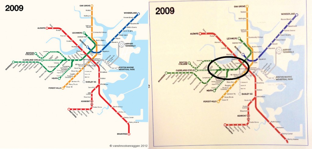Original map on the left, Photoshopped on the right for their presentation.