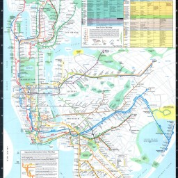 1987 MTA map showing Train to the Plane service.