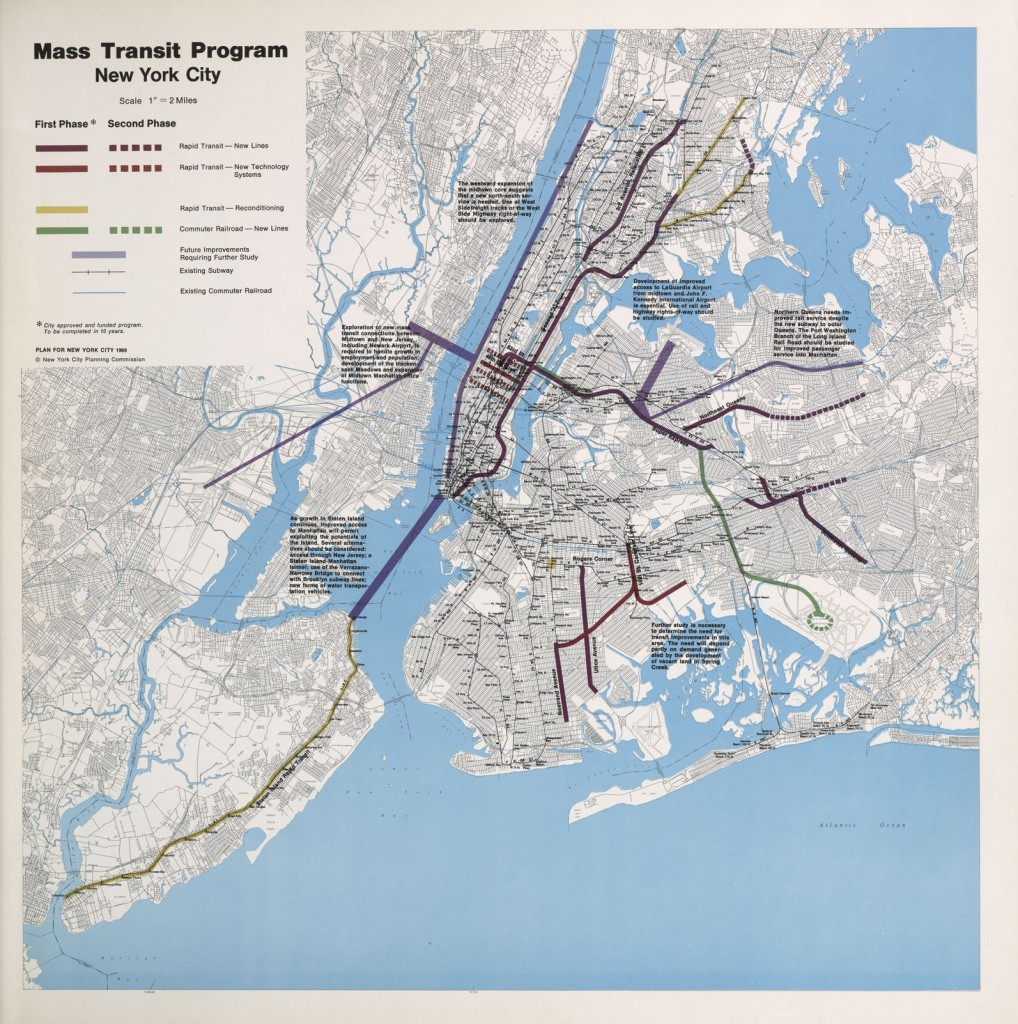NYC Program for Mass Transit Map 1969