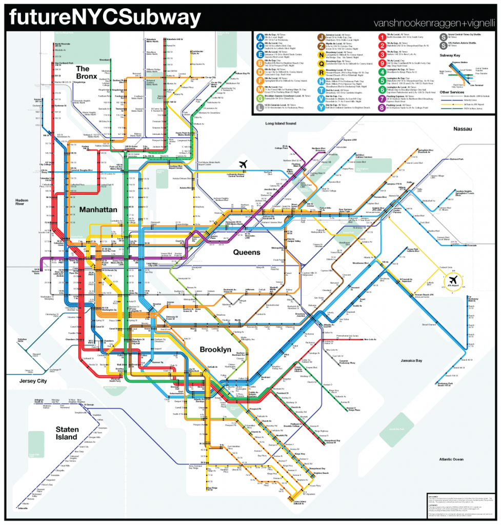 Queens And Manhatan Subway Map.Futurenycsubway V4 Vanshnookenraggen