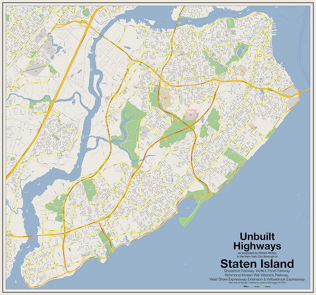 Unbuilt Highways of Staten Island