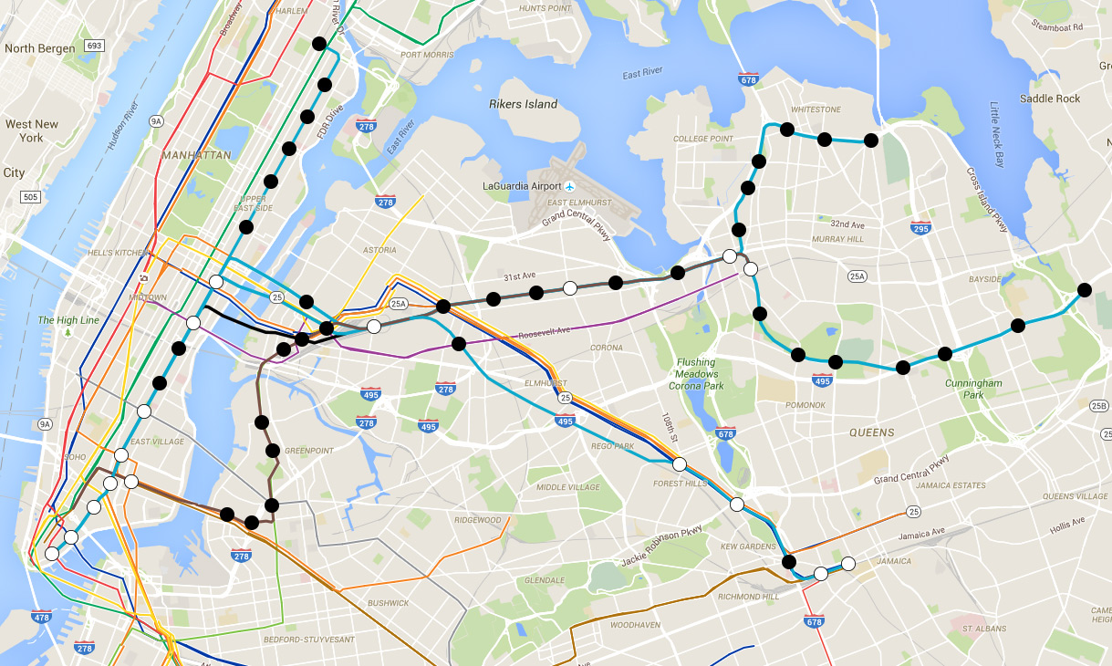 2d Ave Subway Map Nyc.The Futurenycsubway Queens Flushing Trunk Line Revisited
