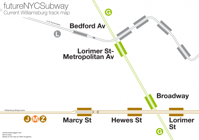 Current track map for Williamsburg