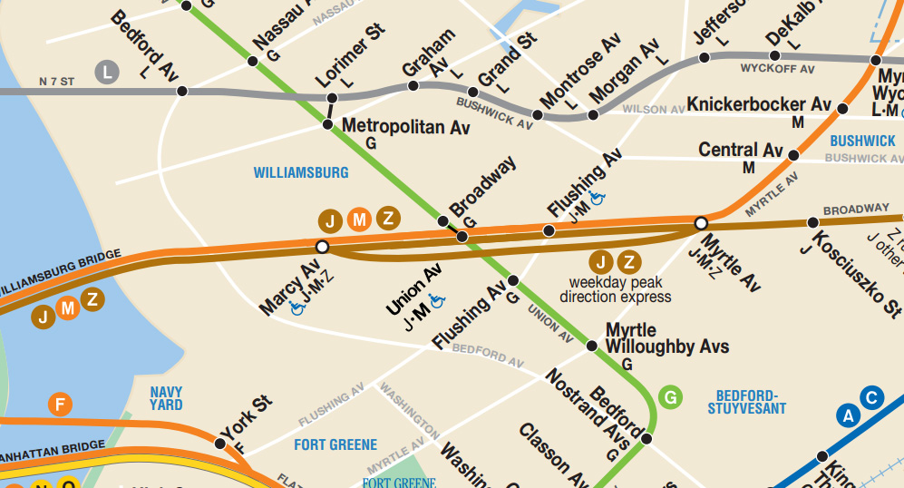 L Subway Map.The L Train Shutdown Connecting The G And J M Z Vanshnookenraggen