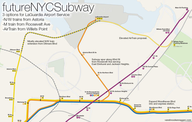 Should There Even Be A One Seat Ride To The Airport - Laguardia airport map