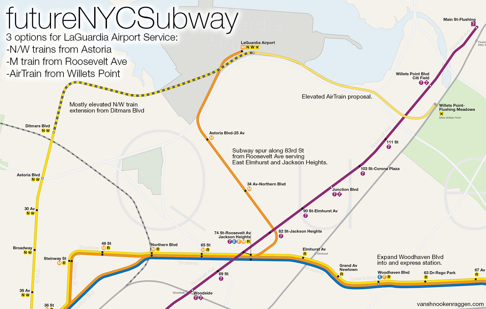 Laguardia Subway Map.Should There Even Be A One Seat Ride To The Airport Vanshnookenraggen