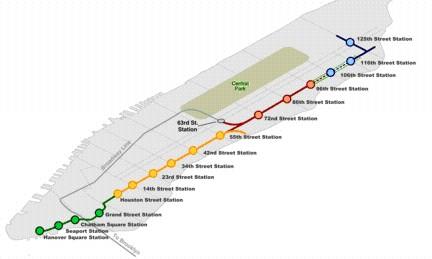 second avenue subway map phase 1 The Futurenycsubway 2nd Ave Subway Future Vanshnookenraggen
