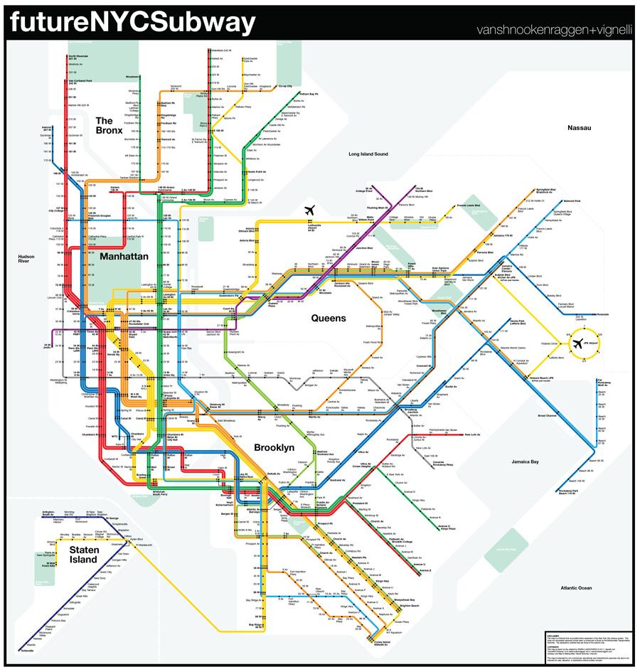 Pdf Of New York Subway Map.Futurenycsubway V3 Vanshnookenraggen