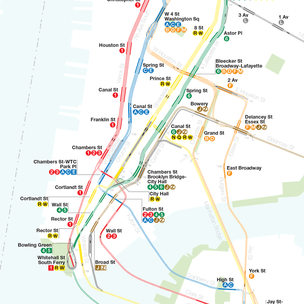 Subway Map Nyc 2014.A Complete And Geographically Accurate Nyc Subway Track Map