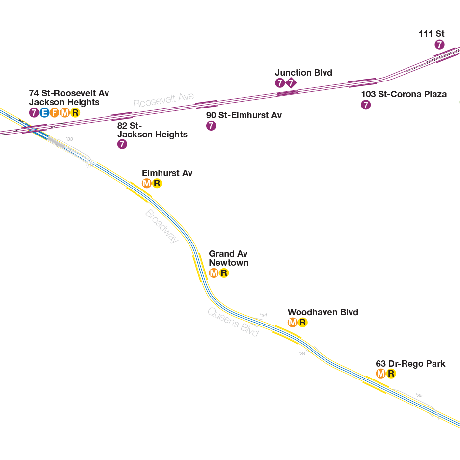 Nyc Subway Map Actrual.A Complete And Geographically Accurate Nyc Subway Track Map